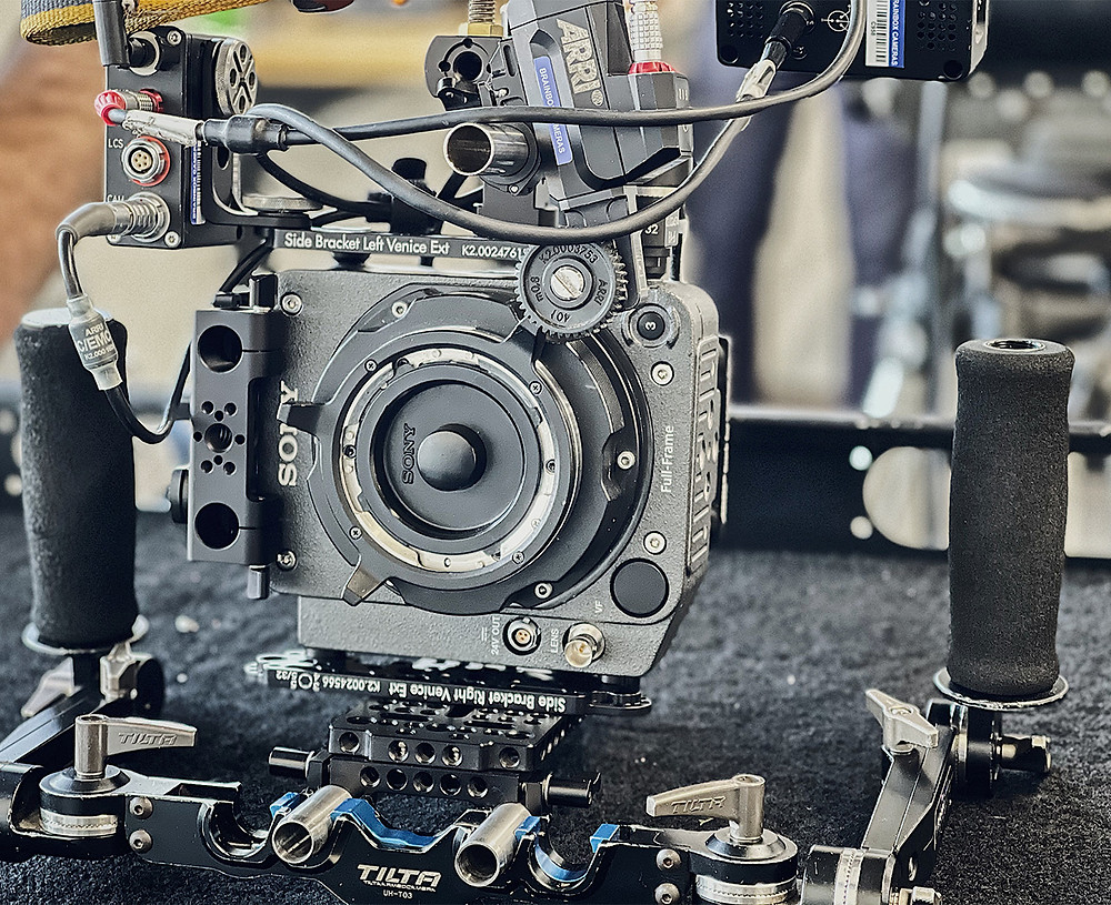 Sony Venice with Rialto System attached in BrainBox Cameras Office