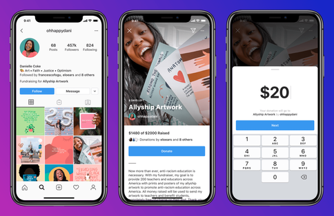 INSTAGRAM PERSONAL FUNDRAISERS ›