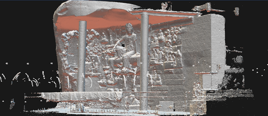 Point cloud visualization of Potalaka Bodhisattva