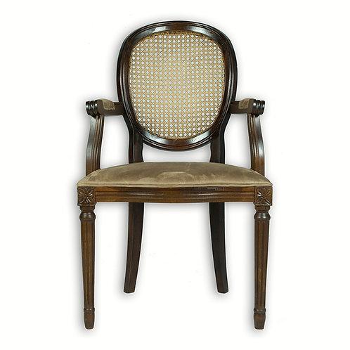 Cadeira medalhão telinha com braço