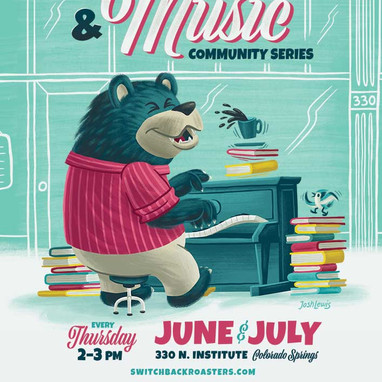 Books & Music Event Poster