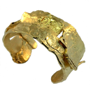 Gold bracelet, hand forged