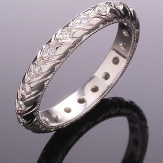 Platinum band with diamonds