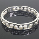 White gold bracelet with pearls
