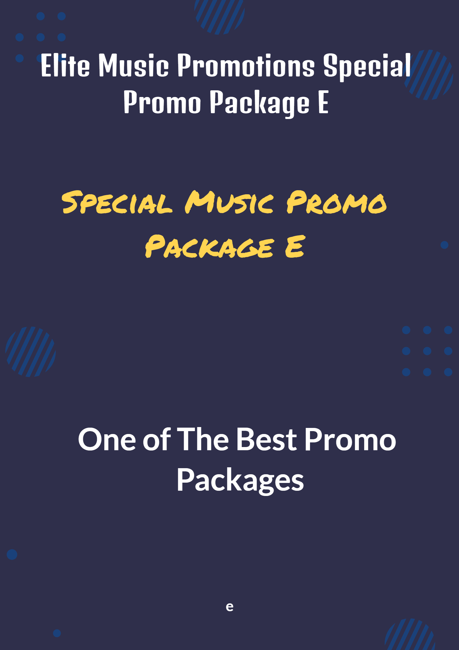 Special Promo Package E