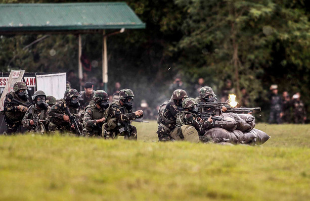 DATE IMPORTED:24 November, 2017Members of the Scout Rangers take part in a capability demonstration as part of the 67th founding anniversary of the First Scout Ranger regiment, in San Miguel town, Bulacan, November 24, 2017.