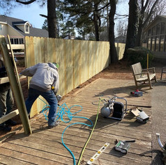 We demo existing fence and/or install new.