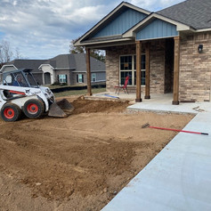 New Construction: Grading, Sod, Landscaping Bed