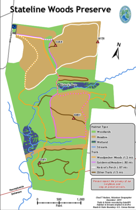 Stateline Woods Map
