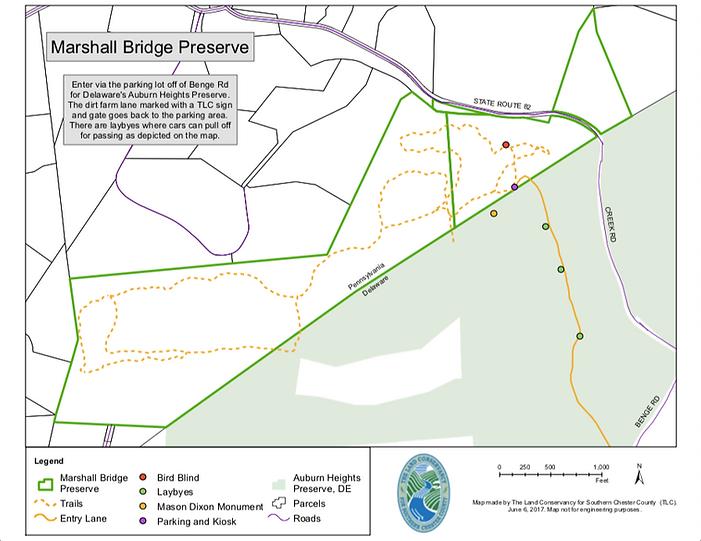 Marshall Bridge Preserve Map