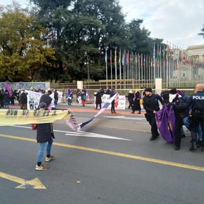 Feministische Prozess und Blockade von der UNO in Genf