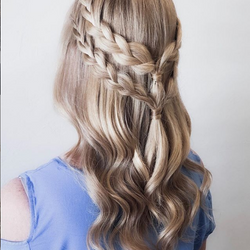 braids curls blowout hairstyle hairstyli