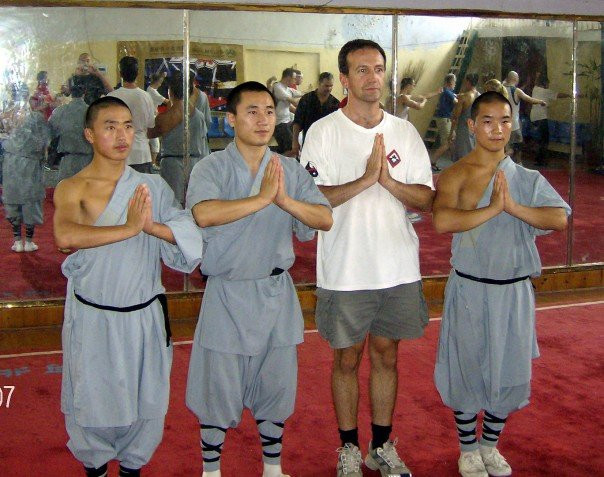 Photo taken at Sholin Temple, China. Meditation, whether standing or seated, chakra-focused or non-directional, is a part of every White Heron Tai Chi class.