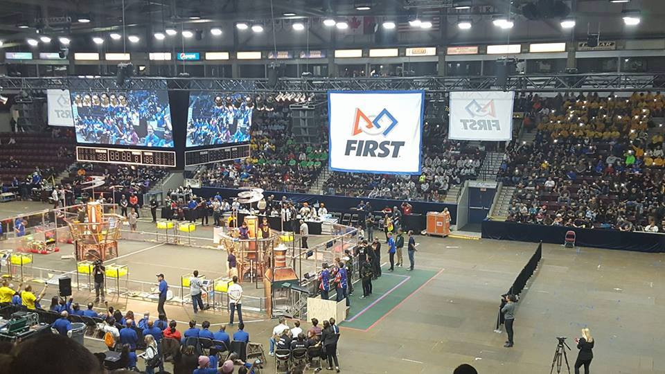 Team 4917 competing in Provincials 2017.