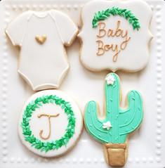 Greenery Baby Shower Set