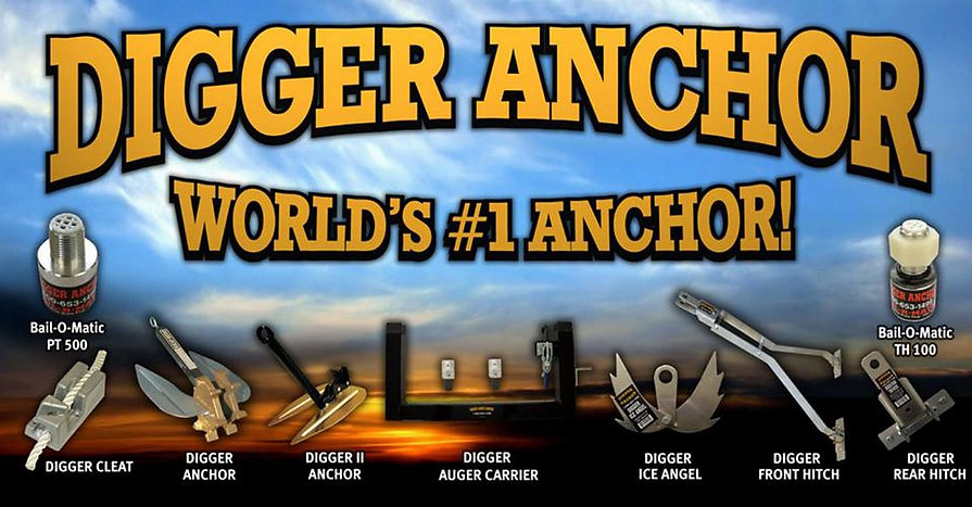 boat anchor, boat plug, hitches, auger carrier, anchor cleat, ice anchor