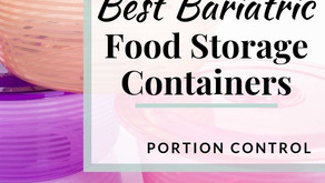 5 Bariatric - Food Containers that are portion sized for after Weight loss Surgery.