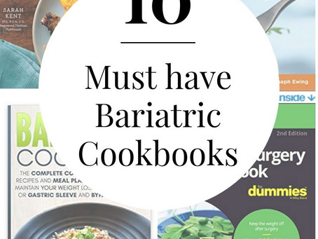 10 Must Have Bariatric Cookbooks