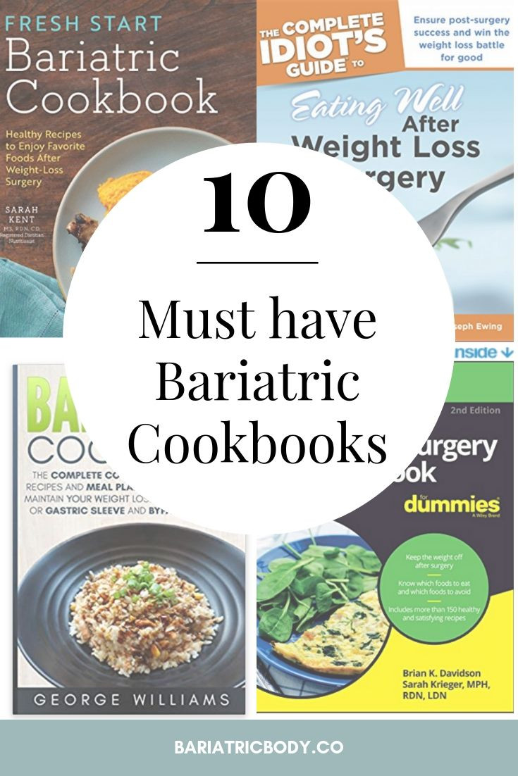 Are you searching for a Bariatric Surgery cookbook? Have you had weight loss surgery and need information about recipes, life after and eating well? Did you have gastric sleeve surgery and need recipes through all stages post weight loss surgery? Don't stress! We got you covered including recipes I wish I had at beginning of my journey! Click here for the 10 best cookbooks!