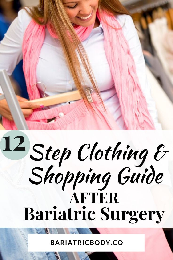 Are you wanting to learn how to make your wardrobe work for you while losing weight, what to wear while you lose weight,  buying clothes while losing weight,  and tips for making your wardrobe work for you while losing weight after weight loss surgery? It can be hard knowing what clothing to wear after surgery and confusing on what to shop and buy.  I am sharing a 12-step guide to help you! I have included my favorite inexpensive way to….. #bariatricclothing #bariatricwardrobe #shopping #buying #gastricsleeve #VSG