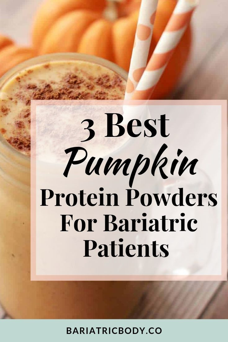 Bariatric pumpkin protein powder that can be used in pies, pancakes, bread and fluff. You don't have to skip the pumpkin pie at Thanksgiving Holiday when these protein shakes can supplement your pumpkin pie cravings! #bariatric #gastricsleeve #wls #pumpkin