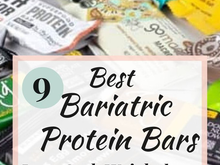 9 Bariatric Protein Bar options that are low carb and don't taste like chalk