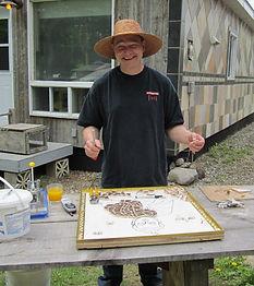 Christian Parenteau artisan mosaïste, été 2013