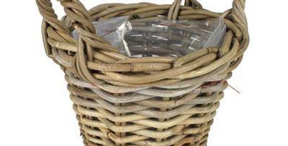 Basket Rattan Pot 25 Dia  Gray