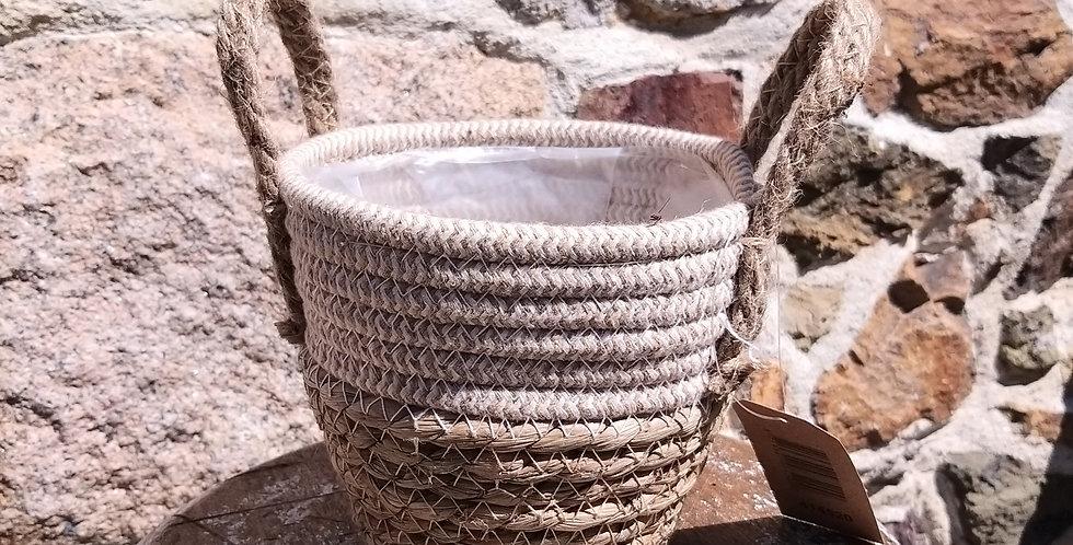 Seagrass Basket pot 14x12cm