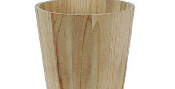 Pot Basic Wood + plastic liner 13cms
