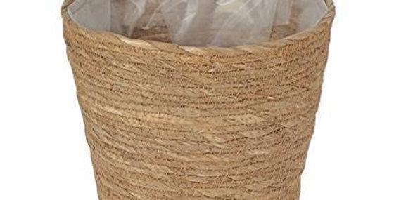 Basket Pot Straw 21.5cms