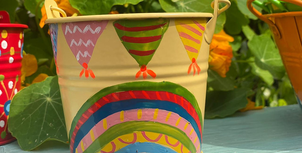 Rainbow Collection Small Pot Yellow