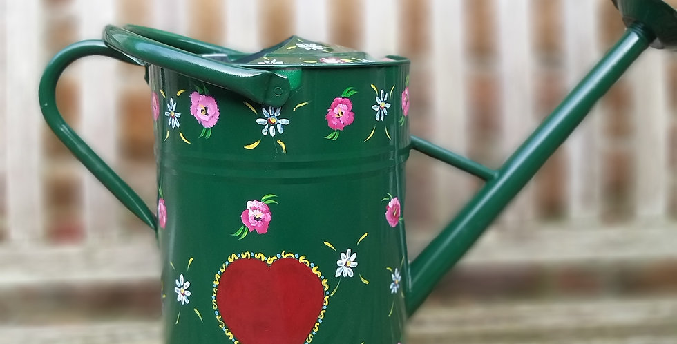 Romany Rose Water Can Green Lrg 25cms