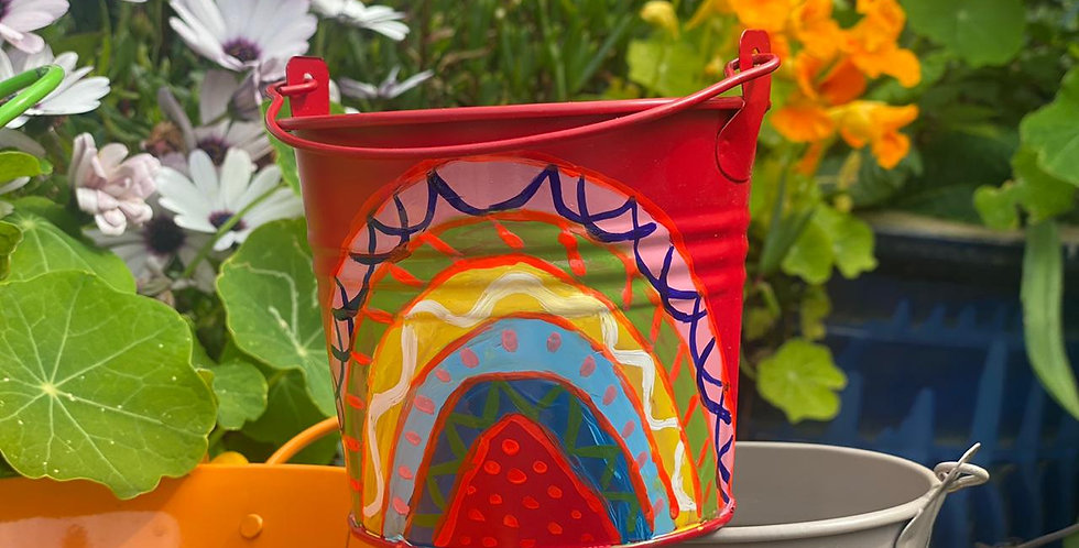 Rainbow Collection Small Pot Red