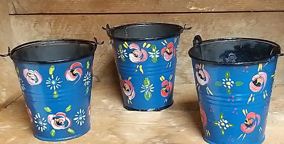 Romany Rose Small Pot Blue