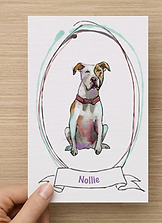 custome made pet portrait personalized painting