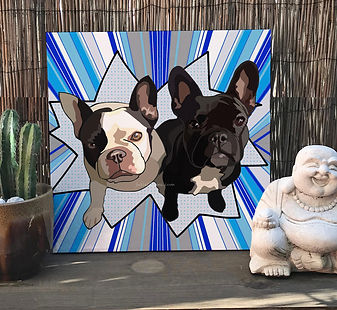 custome made pet portrait personalized paintingPaintedlives custom made art from photo julieta lima popart pop art