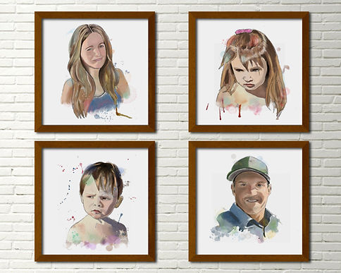custome made portrait personalized painting
