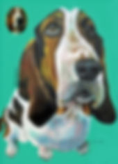 custome made pet portrait pop art dog painting