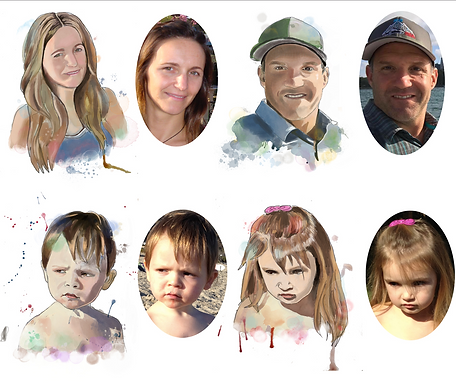 custome made portrait personalized painting portrait family Paintedlives custom made art from photo julieta lima