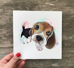 custome made pet portrait personalized paintingPaintedlives custom made art from photo julieta lima