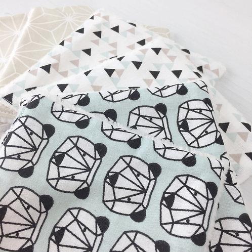 Lingette lavables réutilisables écologiques pour bébé maman poulpe créations