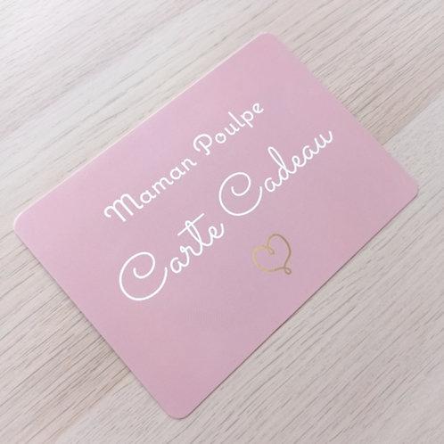 Carte cadeau montant au choix, imprimée Maman Poulpe Carte cadeau recto-verso. Carton glacé d'excellente qualité