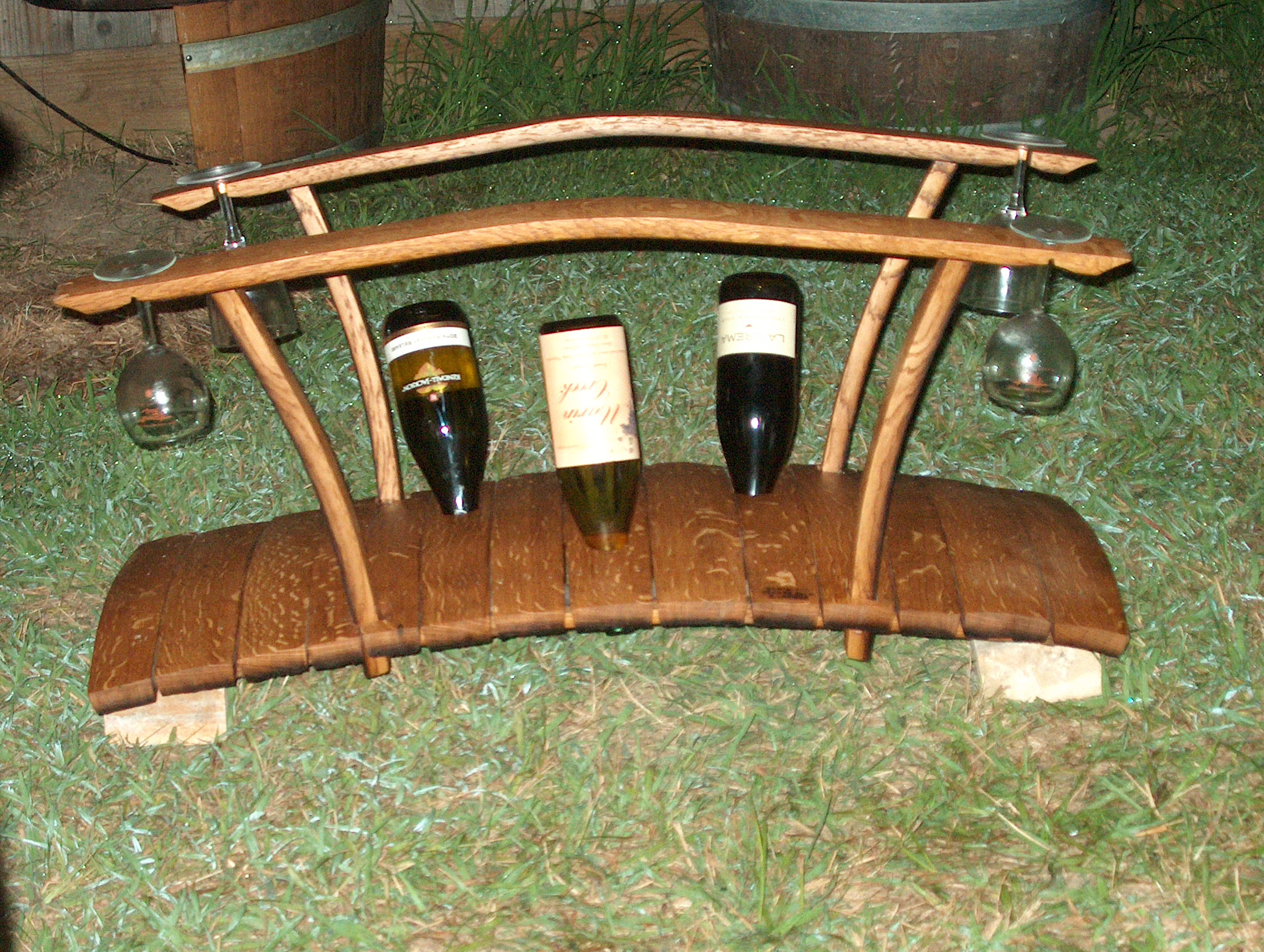bridge wine rack