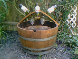 3 bottle 2 glass fountain$295