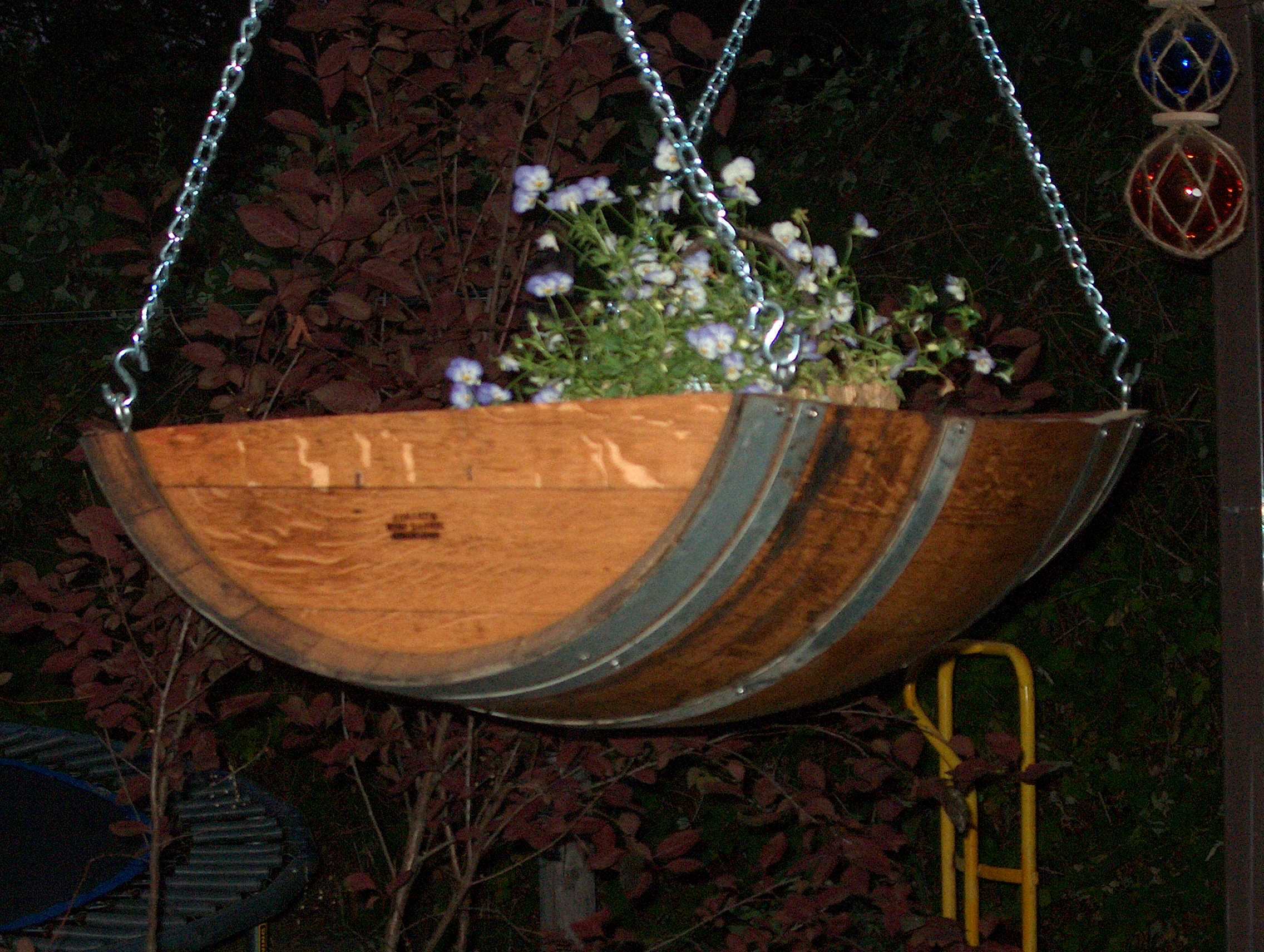 hangin trough planter