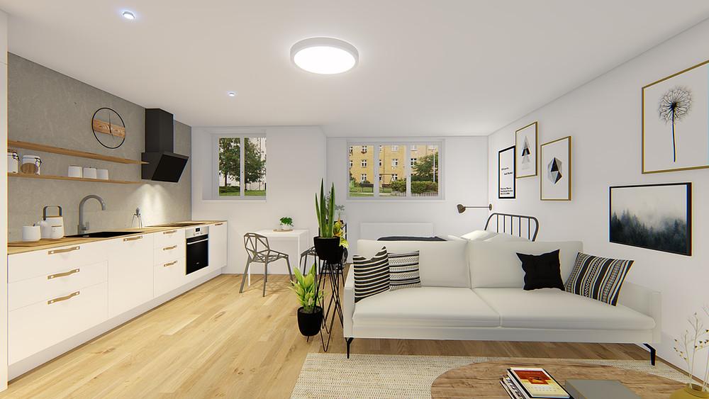 stav bytu po rekonstrukci