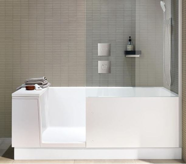 Přejete si vanu i sprchu, ale chybí vám metry čtvereční? S tímto vynálezem už se nemusíte rozmýšlet.