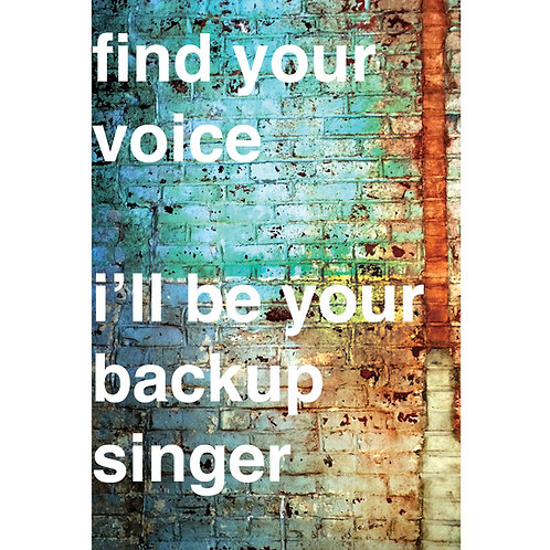 find your voice, i'll be your backup singer