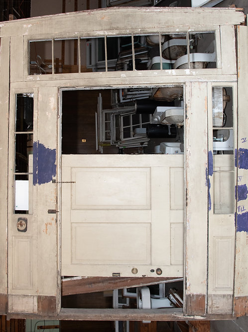 1850s Door and Surround with transom and sidelights